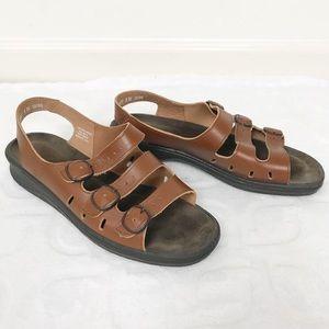 CLARKS Springers Leather Slingback Sandals Sz 8.5